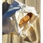 Sac à pain rond, sac à vrac à poignées